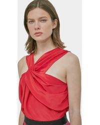 Yigal Azrouël - Silk Draped Front Top - Lyst