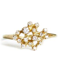 N+A New York - Diamond Cluster Ring - Lyst