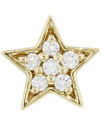 Andrea Fohrman - Mini Diamond Star Single Stud Earring - Lyst