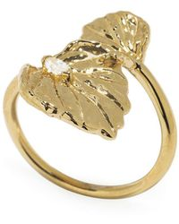 Jordan Askill | Double Leaf Diamond Ring | Lyst