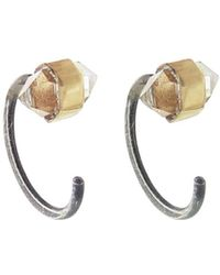 Melissa Joy Manning - Herkimer Diamond Hug Earrings - Lyst