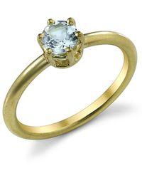 Irene Neuwirth - Brilliant Cut Fine Aquamarine Ring - Lyst