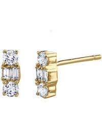 Borgioni - Mixed Cut Diamond Stud Earrings - Lyst