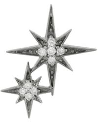 Sydney Evan - Double Starburst Single Stud Earring - Lyst