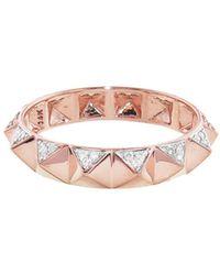 Sydney Evan - Pyramid Eternity Ring - Lyst