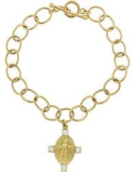 Cathy Waterman - Diamond Juggler On Large Lacy Chain Bracelet - Lyst