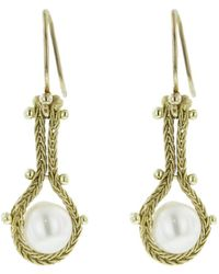Ten Thousand Things - Studded Pearl Chain Earrings - Lyst