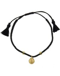 Ileana Makri - Jingle Bell Black Cord Bracelet - Lyst
