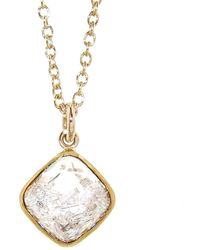 Moritz Glik - Floating Diamonds Square Pendant Necklace - Lyst