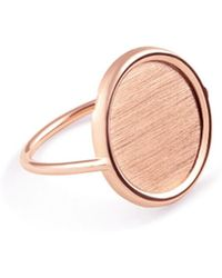 Ginette NY - Rose Gold Disc Ring - Lyst