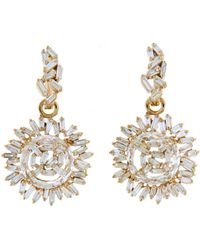 Suzanne Kalan - Vitrine Diamond And Topaz Circle Earrings - Lyst