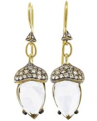 Cathy Waterman - White Topaz Acorn Earrings - Lyst