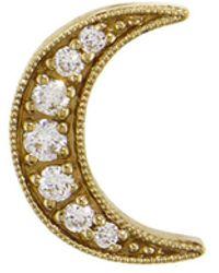 Andrea Fohrman - Diamond Crescent Moon Single Stud Earring - Lyst