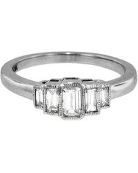 Sethi Couture - Five Baguette White Diamond Ring - Lyst