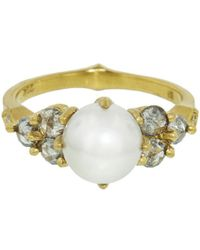 Cathy Waterman - Akoya Pearl And Diamond Constellation Ring - Lyst