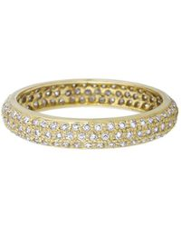Sethi Couture - Wide Pavé Diamond Band - Lyst