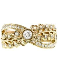 Sethi Couture - Double Vine And Rose Cut Diamond Band Ring - Lyst