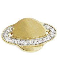 Sydney Evan - Pavé Diamond Saturn Stud Earring - Lyst