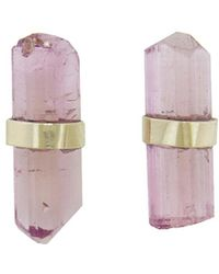 Melissa Joy Manning - Pink Tourmaline Stick Stud Earrings - Lyst