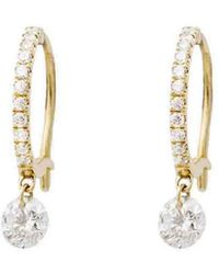 Raphaele Canot - Set Free Diamond Mini Hoop Earrings - Lyst