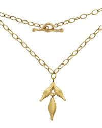 Cathy Waterman - Flexible Wheat Charm With Lacy Chain Necklace - Lyst
