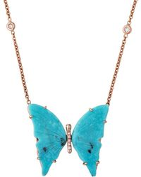Jacquie Aiche - Medium Turquoise Butterfly Necklace - Lyst