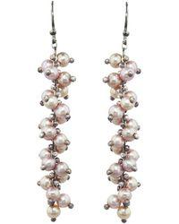 Ten Thousand Things - Pink Pearl Long Spiral Earrings - Lyst