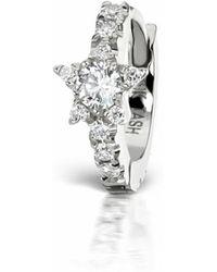 436b6b3e3cb5dc Nayla Arida Creole Hoop Earrings Black in Metallic - Lyst