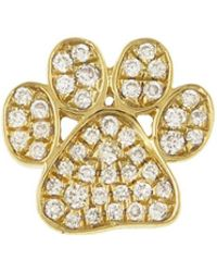 Sydney Evan - Diamond Paw Single Stud Earring - Lyst