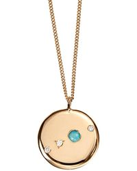 Wwake - Small Opal And Diamond Medallion Necklace - Lyst