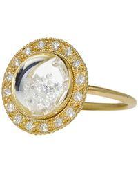 Moritz Glik - White Diamond Shaker Dome Ring - Lyst