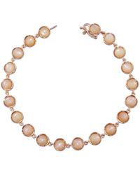 Irene Neuwirth - Cabochon Peach Moonstone Chain Bracelet - Lyst