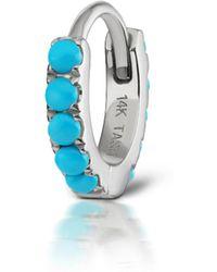 Maria Tash - 6.5mm Turquoise Eternity Ring Single Earring - Lyst