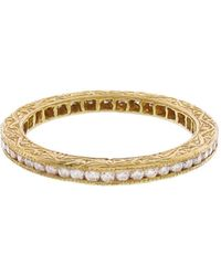 Sethi Couture - White Diamond Channel Set Band Ring - Lyst