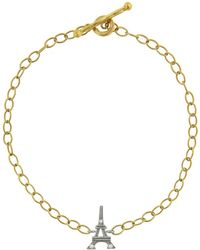 Cathy Waterman - Diamond Eiffel Tower Chain Bracelet - Lyst