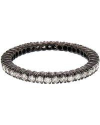 Sethi Couture - White Diamond Prong Set Eternity Band Ring - Lyst