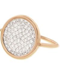 Ginette NY - Small Diamond Disc Ring - Lyst