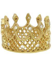 Cathy Waterman - Wide Crown Ring - Lyst