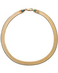 Wwake - 18 Inch Large Rhodes Herringbone Necklace - Lyst