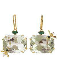 Sharon Khazzam | Green Quartz Bee Earrings | Lyst