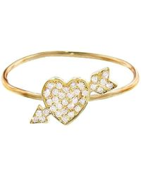 Jennifer Meyer - Shot Through The Heart Diamond Ring - Lyst