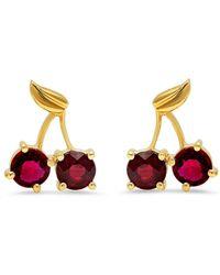 Established - Cherry Stud Earrings - Lyst