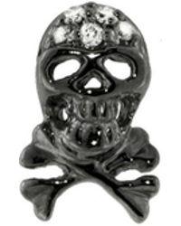 Sydney Evan - Blackened Skull Stud Earring - Lyst