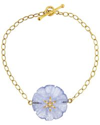 Cathy Waterman - 12.40 Ct Chalcedony Flower Bracelet - Lyst