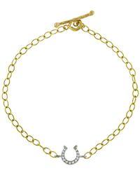 Cathy Waterman - Diamond Horseshoe Bracelet - Lyst