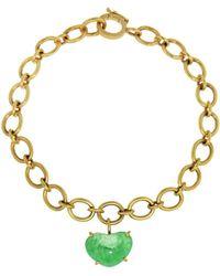 Irene Neuwirth - Emerald Heart Chain Bracelet - Lyst