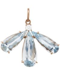 Irene Neuwirth - One-of-a-kind Triple Aquamarine And Diamond Charm - Lyst