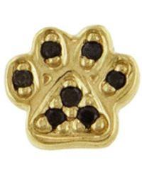 Sydney Evan - Mini Black Diamond Paw Single Earring - Lyst