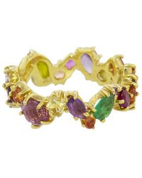 Sharon Khazzam - Multicolored Gemstone Zig Zag Ring - Lyst