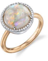 Irene Neuwirth - Opal Circle And Diamond Ring - Lyst